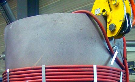Calentamiento por inducción para soldadura, precalentamiento inductivo de costuras de soldadura
