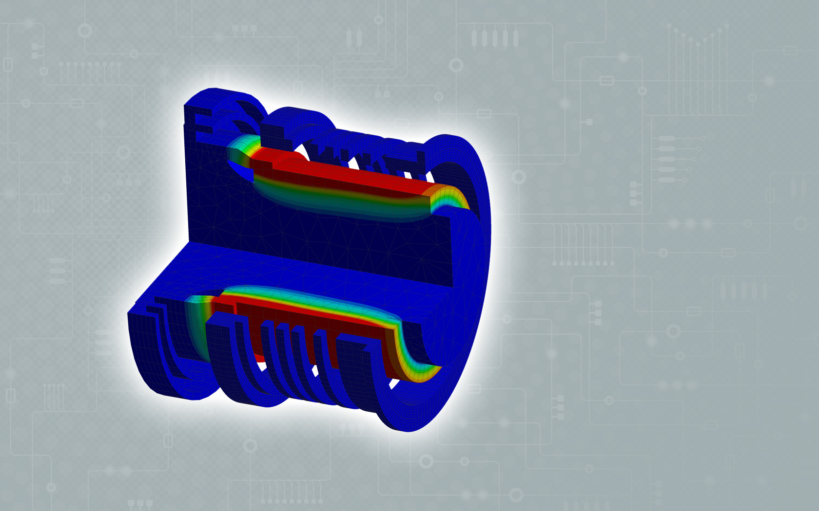 Induktives Erwärmen Simulation Temperaturverteilung